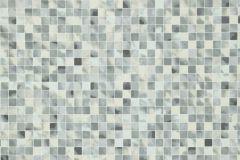 58-CHESS cikkszámú tapéta.Kockás,kőhatású-kőmintás,különleges motívumos,szürke,vajszín,lemosható,papír tapéta