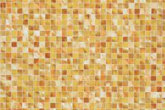 59-TERRA cikkszámú tapéta.Kockás,kőhatású-kőmintás,különleges motívumos,bézs-drapp,fehér,sárga,lemosható,papír tapéta