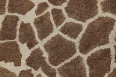 03-BUFF cikkszámú tapéta.állatok,természeti mintás,barna,bézs-drapp,gyengén mosható,papír tapéta