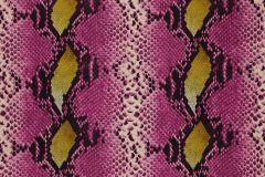 36-TULIP cikkszámú tapéta.állatok,bőr hatású,természeti mintás,arany,fehér,fekete,pink-rózsaszín,sárga,gyengén mosható,papír tapéta