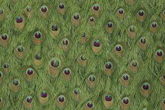 43-PEACOCK cikkszámú tapéta.állatok,természeti mintás,bézs-drapp,lila,pink-rózsaszín,zöld,gyengén mosható,papír tapéta