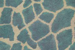 44-TURQUOISE cikkszámú tapéta.állatok,természeti mintás,bézs-drapp,kék,türkiz,gyengén mosható,papír tapéta