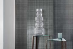 02-CARBON cikkszámú tapéta.Egyszínű,textilmintás,szürke,lemosható,papír tapéta