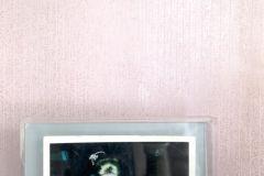 83-LOTUS cikkszámú tapéta.Csíkos,kőhatású-kőmintás,különleges motívumos,fehér,pink-rózsaszín,gyengén mosható,papír tapéta