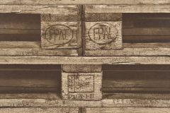 524116 cikkszámú tapéta.Fa hatású-fa mintás,különleges motívumos,barna,bézs-drapp,lemosható,vlies tapéta
