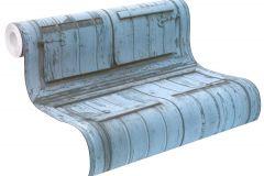 525021 cikkszámú tapéta.Fa hatású-fa mintás,különleges motívumos,kék,szürke,lemosható,vlies tapéta