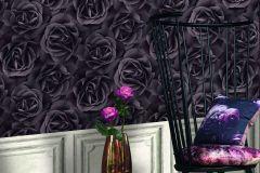 525618 cikkszámú tapéta.Virágmintás,barna,lemosható,vlies tapéta