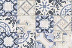526325 cikkszámú tapéta.Konyha-fürdőszobai,kőhatású-kőmintás,bézs-drapp,fehér,kék,lemosható,vlies tapéta