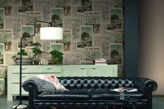 526509 cikkszámú tapéta.Emberek-sztárok,feliratos-számos,különleges motívumos,bézs-drapp,fekete,kék,narancs-terrakotta,szürke,zöld,lemosható,vlies tapéta