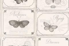 306514 cikkszámú tapéta.állatok,feliratos-számos,retro,bézs-drapp,fehér,szürke,lemosható,papír tapéta