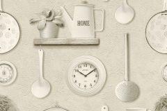 307115 cikkszámú tapéta.Feliratos-számos,konyha-fürdőszobai,természeti mintás,fehér,szürke,lemosható,papír tapéta