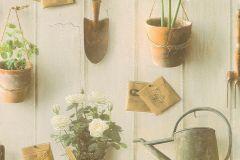 307306 cikkszámú tapéta.Fa hatású-fa mintás,konyha-fürdőszobai,természeti mintás,virágmintás,barna,bézs-drapp,szürke,zöld,lemosható,papír tapéta