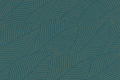 404005 cikkszámú tapéta.Absztrakt,különleges felületű,természeti mintás,arany,türkiz,lemosható,vlies tapéta