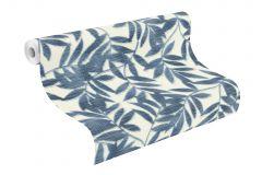 406337 cikkszámú tapéta.Különleges felületű,természeti mintás,fehér,kék,lemosható,vlies tapéta