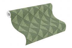 407426 cikkszámú tapéta.3d hatású,különleges felületű,zöld,lemosható,vlies tapéta