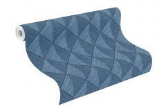 407433 cikkszámú tapéta.3d hatású,különleges felületű,kék,lemosható,vlies tapéta