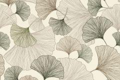 407648 cikkszámú tapéta.Különleges felületű,természeti mintás,vajszín,zöld,lemosható,vlies tapéta