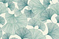 407662 cikkszámú tapéta.Különleges felületű,természeti mintás,kék,türkiz,vajszín,lemosható,vlies tapéta