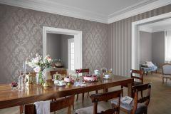 501773 cikkszámú tapéta.Barokk-klasszikus,metál-fényes,barna,szürke,lemosható,vlies tapéta