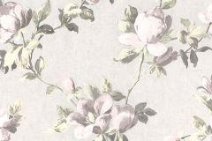 502114 cikkszámú tapéta.Metál-fényes,virágmintás,fehér,gyöngyház,pink-rózsaszín,zöld,lemosható,vlies tapéta