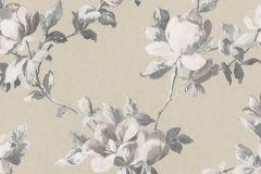 502121 cikkszámú tapéta.Metál-fényes,virágmintás,fehér,gyöngyház,szürke,lemosható,vlies tapéta