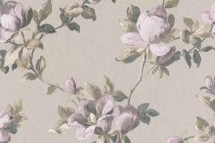 502145 cikkszámú tapéta.Metál-fényes,virágmintás,lila,szürke,zöld,lemosható,vlies tapéta