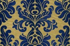 546125 cikkszámú tapéta.Barokk-klasszikus,arany,kék,lemosható,vlies tapéta