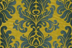 546156 cikkszámú tapéta.Barokk-klasszikus,arany,kék,türkiz,zöld,lemosható,vlies tapéta