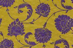 546330 cikkszámú tapéta.Barokk-klasszikus,természeti mintás,virágmintás,arany,lila,lemosható,vlies tapéta