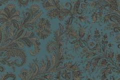 533651 cikkszámú tapéta.Barokk-klasszikus,különleges felületű,különleges motívumos,kék,szürke,lemosható,vlies tapéta