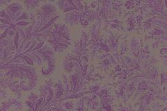 533675 cikkszámú tapéta.Barokk-klasszikus,különleges felületű,különleges motívumos,lila,szürke,lemosható,vlies tapéta