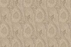 513943 cikkszámú tapéta.Különleges felületű,különleges motívumos,rajzolt,retro,textil hatású,textilmintás,virágmintás,barna,bézs-drapp,zöld,lemosható,Vlies tapéta