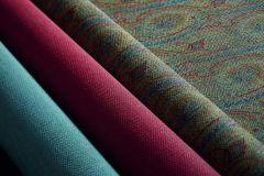 513912 cikkszámú tapéta.Absztrakt,különleges felületű,különleges motívumos,rajzolt,textilmintás,virágmintás,barna,kék,piros-bordó,zebra,zöld,lemosható,Vlies tapéta