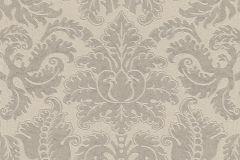 515848 cikkszámú tapéta.Barokk-klasszikus,különleges felületű,különleges motívumos,rajzolt,textil hatású,textilmintás,virágmintás,bézs-drapp,szürke,lemosható,Vlies tapéta