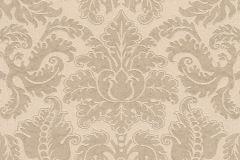 515862 cikkszámú tapéta.Barokk-klasszikus,különleges felületű,különleges motívumos,természeti mintás,textil hatású,textilmintás,virágmintás,barna,bézs-drapp,lemosható,Vlies tapéta