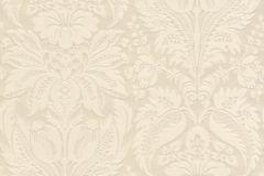 517606 cikkszámú tapéta.Barokk-klasszikus,metál-fényes,textil hatású,virágmintás,bézs-drapp,vajszín,lemosható,Vlies tapéta