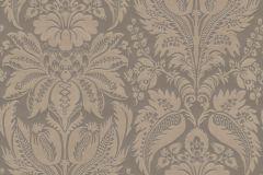 517613 cikkszámú tapéta.Barokk-klasszikus,különleges felületű,metál-fényes,textil hatású,virágmintás,barna,bézs-drapp,lemosható,Vlies tapéta