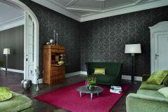 517620 cikkszámú tapéta.Barokk-klasszikus,különleges felületű,különleges motívumos,metál-fényes,textil hatású,virágmintás,barna,szürke,lemosható,Vlies tapéta