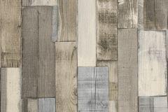 446753 cikkszámú tapéta.Csíkos,fa hatású-fa mintás,geometriai mintás,barna,bézs-drapp,kék,lemosható,vlies tapéta