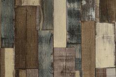 446760 cikkszámú tapéta.Csíkos,fa hatású-fa mintás,barna,bézs-drapp,kék,lemosható,vlies tapéta