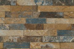 475104 cikkszámú tapéta.Kőhatású-kőmintás,barna,bézs-drapp,kék,lemosható,vlies tapéta