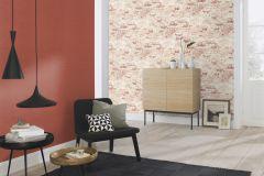 939309 cikkszámú tapéta.Kőhatású-kőmintás,különleges motívumos,barna,narancs-terrakotta,szürke,lemosható,vlies tapéta