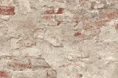 939323 cikkszámú tapéta.Kőhatású-kőmintás,különleges motívumos,narancs-terrakotta,szürke,lemosható,vlies tapéta
