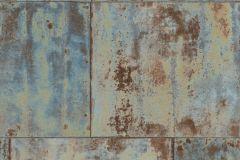 939712 cikkszámú tapéta.Fémhatású - indusztriális,barna,bronz,türkiz,lemosható,vlies tapéta