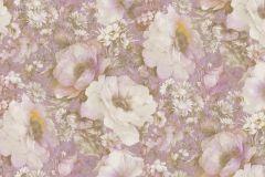 935707 cikkszámú tapéta.Barokk-klasszikus,különleges felületű,rajzolt,természeti mintás,virágmintás,bézs-drapp,lila,zebra,lemosható,vlies tapéta