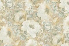 935714 cikkszámú tapéta.Barokk-klasszikus,különleges felületű,természeti mintás,virágmintás,bézs-drapp,narancs-terrakotta,zebra,zöld,lemosható,vlies tapéta