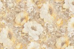 935721 cikkszámú tapéta.Barokk-klasszikus,különleges felületű,rajzolt,természeti mintás,virágmintás,barna,bézs-drapp,narancs-terrakotta,zebra,lemosható,vlies tapéta