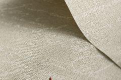 449563 cikkszámú tapéta.Feliratos-számos,retro,textil hatású,barna,bézs-drapp,szürke,vajszín,lemosható,vlies tapéta