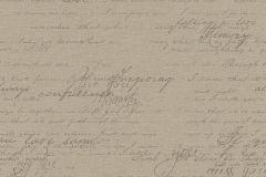 449570 cikkszámú tapéta.Feliratos-számos,retro,textil hatású,barna,szürke,lemosható,vlies tapéta