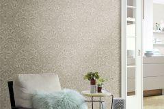 449921 cikkszámú tapéta.Barokk-klasszikus,textil hatású,barna,bézs-drapp,szürke,lemosható,vlies tapéta